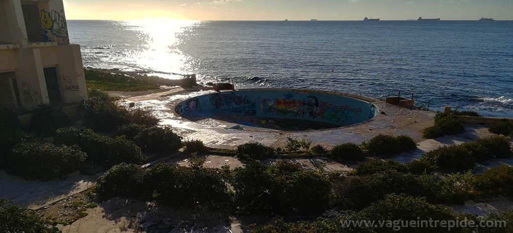 Vue sur la piscine, Jerma Palace Hotel, malte, Jerma Palace Hotel, malte