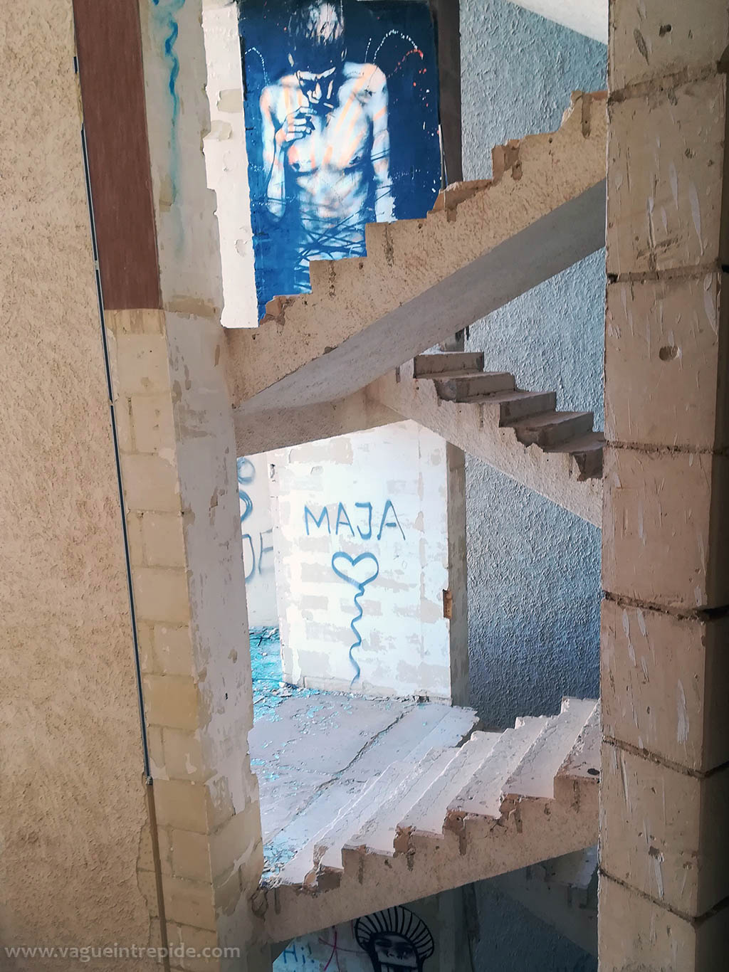 Cages d'escalier urbex Jerma Palace Hotel à Malte