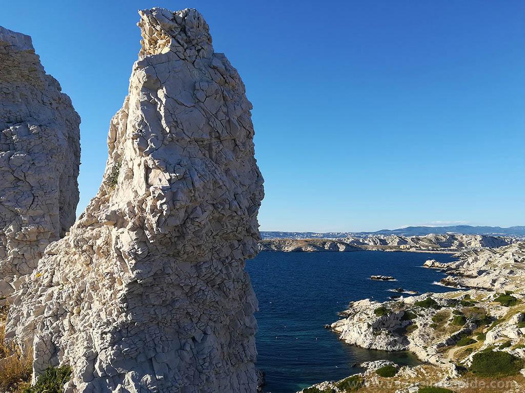 Le paysage rocheux du Frioul